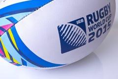 De wereldbeker van de rugbybal voor de motieonduidelijk beeld van 2015 Royalty-vrije Stock Foto