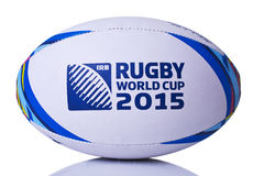 De wereldbeker van de rugbybal voor de voorzijde van 2015  Stock Foto's