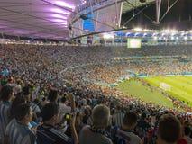 2014 de Wereldbeker van FIFA Brazilië - Argentinië versus Bosnië-Herzegovina Stock Foto's