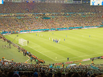 2014 de Wereldbeker van FIFA Brazilië - Argentinië versus Bosnië-Herzegovina Stock Afbeeldingen