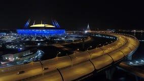 2018 de Wereldbeker van FIFA, Rusland, Heilige Petersburg, het stadion van Heilige Petersburg stock video