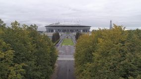 2018 de Wereldbeker van FIFA, Rusland, Heilige Petersburg, het stadion van Heilige Petersburg, stock footage