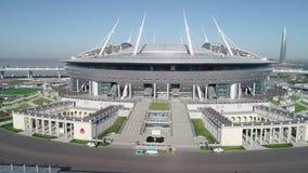 2018 de Wereldbeker van FIFA, Rusland, Heilige Petersburg, het stadion van Heilige Petersburg stock videobeelden