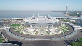 2018 de Wereldbeker van FIFA, Rusland, Heilige Petersburg, het stadion van Heilige Petersburg stock footage