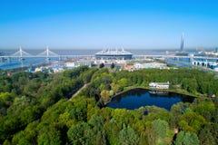 2018 de Wereldbeker van FIFA, Rusland, Heilige Petersburg, het stadion van Heilige Petersburg stock afbeeldingen