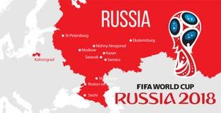 De wereldbeker 2018 van Rusland royalty-vrije illustratie