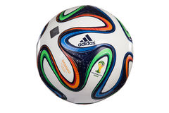 De Wereldbeker 2014 Voetbal van Adidas Brazuca Stock Afbeeldingen
