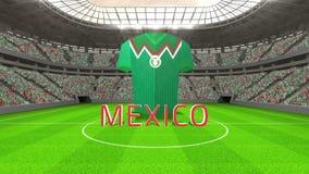 De wereldbekerbericht van Mexico met Jersey en tekst royalty-vrije illustratie