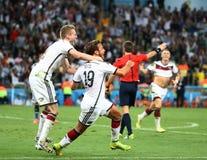 De Wereldbekervoetbal van Argentinië en van Bosnië 2014 stock afbeeldingen