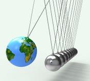 De wereldbol toont Globaal Behoud Wereldwijd Stock Afbeelding