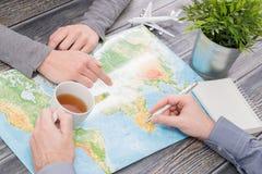 De wereldconcept van de bedrijfsreis reizend kaart Stock Afbeelding