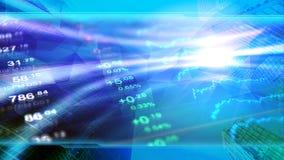 De wereldeconomie, financiën, zaken, investeert behang stock illustratie