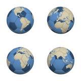 De Werelden van het voetbal Stock Afbeeldingen