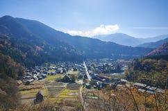 De werelderfenis in Shirakawago Stock Afbeeldingen