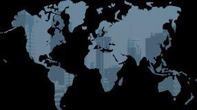 De wereldkaart 2 van het pixel Stock Afbeelding