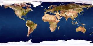 De wereldkaart Royalty-vrije Stock Afbeeldingen