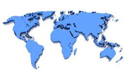 De wereldkaart Royalty-vrije Stock Fotografie