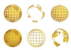 De wereldkaart van de bol stock illustratie