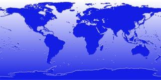 De wereldkaart van de bumper vector illustratie