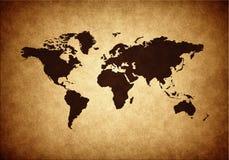 De wereldkaart van Grunge Royalty-vrije Stock Foto
