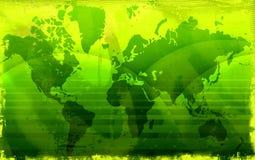 De wereldkaart van Grunge vector illustratie