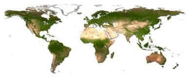 De wereldkaart van het detail