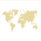 De wereldkaart van het geld Stock Foto