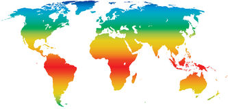 De wereldkaart van het klimaat Stock Afbeeldingen