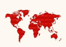 De wereldkaart van het patroon Royalty-vrije Stock Fotografie