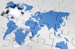De wereldkaart van het raadsel Royalty-vrije Stock Foto