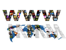 De wereldkaart van Www Royalty-vrije Stock Afbeelding