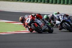 De Wereldkampioenschap van FIM Superbike - Vrije Praktijk 3de Zitting Royalty-vrije Stock Foto