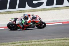 De Wereldkampioenschap van FIM Superbike - Vrije Praktijk 4de Zitting Stock Fotografie
