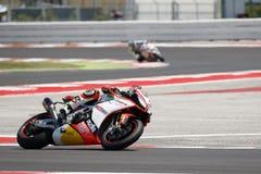 De Wereldkampioenschap van FIM Superbike - Vrije Praktijk 4de Zitting Stock Foto's