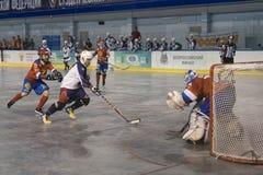 De Wereldkampioenschap van het balhockey in Dmitrov 12-17 06 2018 stock foto