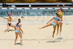 2011 de Wereldkampioenschap van het Strandvolleyball - Rome, Italië Stock Foto's