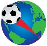 De wereldkop 2010 van het voetbal stock illustratie