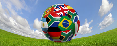 De wereldkop van het voetbal Stock Afbeeldingen