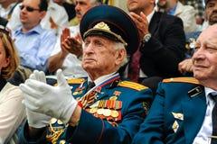 De Wereldoorlog IIveteranen bij de viering van negende kunnen Royalty-vrije Stock Afbeelding
