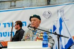 De Wereldoorlog IIveteranen bij de viering van negende kunnen Stock Afbeelding