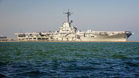 De Wereldoorlog IIvliegdekschip van USS Lexington stock foto's