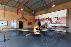 2de Wereldoorlog verpletterde Messerschmitt 109 Stock Foto