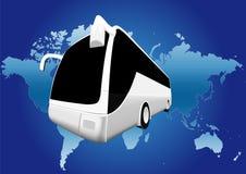 De wereldreis van de bus Stock Afbeelding