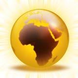 De wereldstralen van Aqua Royalty-vrije Stock Afbeeldingen