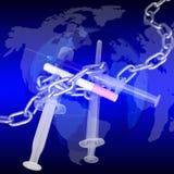 De wereldstrijd tegen het roken stock illustratie