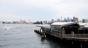 De Werf en Sydney City View van de Tarongadierentuin stock foto