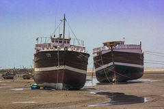 De werf Mandvi, India van het schipdok Stock Fotografie