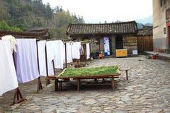 De werf van de aarden structuren van Fujian stock foto's