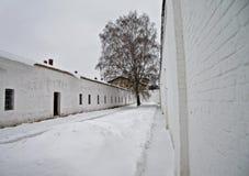 De werf van de gevangenis. Stock Afbeelding