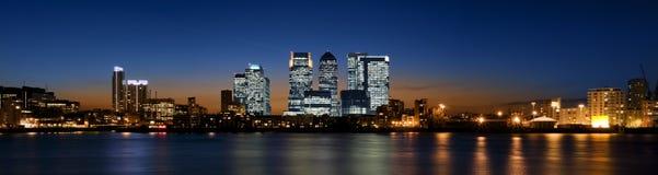 De Werf van de kanarie, Londen. Royalty-vrije Stock Fotografie